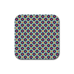 Cute Abstract Pattern Background Rubber Coaster (square)  by creativemom