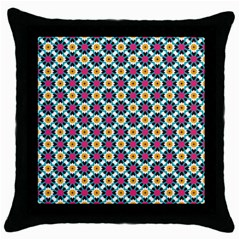 Cute Abstract Pattern Background Throw Pillow Cases (black) by creativemom