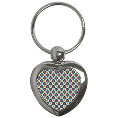 Cute Abstract Pattern Background Key Chains (heart)  by creativemom