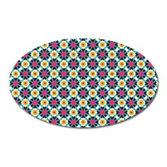 Cute Abstract Pattern Background Oval Magnet by creativemom