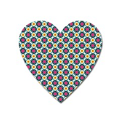 Cute Abstract Pattern Background Heart Magnet by creativemom