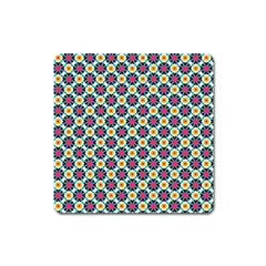 Cute Abstract Pattern Background Square Magnet by creativemom