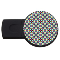 Cute Abstract Pattern Background Usb Flash Drive Round (2 Gb)  by creativemom
