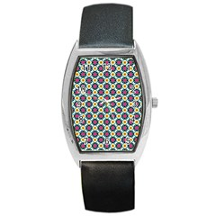 Cute Abstract Pattern Background Barrel Metal Watches by creativemom