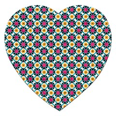 Cute Abstract Pattern Background Jigsaw Puzzle (heart) by creativemom