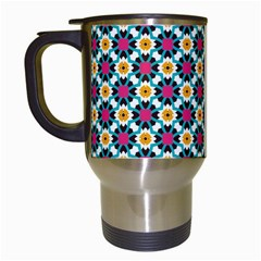 Cute Abstract Pattern Background Travel Mugs (white) by creativemom