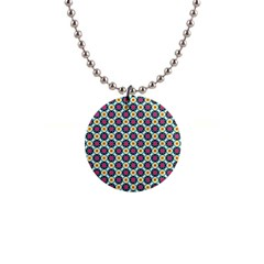 Cute Abstract Pattern Background Button Necklaces