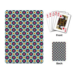 Cute Abstract Pattern Background Playing Card by creativemom