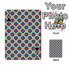 Cute Abstract Pattern Background Playing Cards 54 Designs  by creativemom