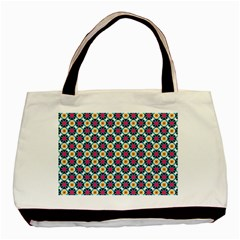 Cute Abstract Pattern Background Basic Tote Bag  by creativemom