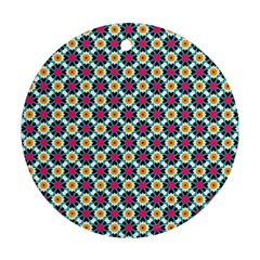 Cute Abstract Pattern Background Round Ornament (two Sides)  by creativemom