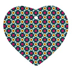 Cute Abstract Pattern Background Heart Ornament (2 Sides) by creativemom