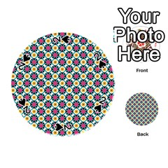 Cute Abstract Pattern Background Playing Cards 54 (round)  by creativemom