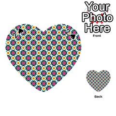 Cute Abstract Pattern Background Playing Cards 54 (heart)