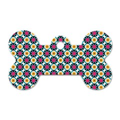 Cute Abstract Pattern Background Dog Tag Bone (one Side) by creativemom