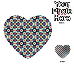 Cute Abstract Pattern Background Multi Purpose Cards (heart)  by creativemom