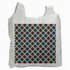 Cute Abstract Pattern Background Recycle Bag (one Side) by creativemom