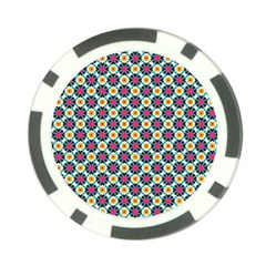 Cute Abstract Pattern Background Poker Chip Card Guards (10 Pack)  by creativemom