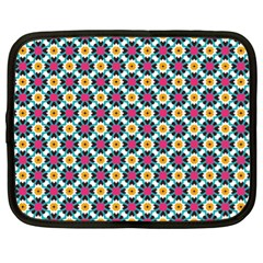 Cute Abstract Pattern Background Netbook Case (xl)  by creativemom