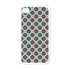 Cute Abstract Pattern Background Apple Iphone 4 Case (white) by creativemom