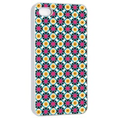 Cute Abstract Pattern Background Apple Iphone 4/4s Seamless Case (white) by creativemom