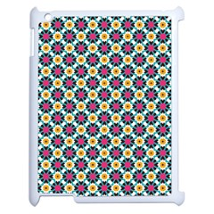 Cute Abstract Pattern Background Apple Ipad 2 Case (white) by creativemom