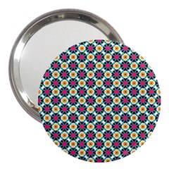 Cute Abstract Pattern Background 3  Handbag Mirrors by creativemom