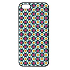 Cute Abstract Pattern Background Apple Iphone 5 Seamless Case (black) by creativemom