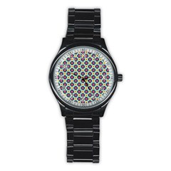 Cute Abstract Pattern Background Stainless Steel Round Watches by creativemom