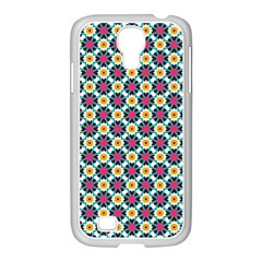 Cute Abstract Pattern Background Samsung Galaxy S4 I9500/ I9505 Case (white) by creativemom