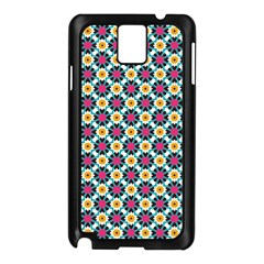 Cute Abstract Pattern Background Samsung Galaxy Note 3 N9005 Case (black) by creativemom