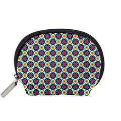 Cute Abstract Pattern Background Accessory Pouches (small)  by creativemom