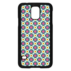 Cute Abstract Pattern Background Samsung Galaxy S5 Case (black) by creativemom