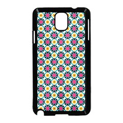 Cute Abstract Pattern Background Samsung Galaxy Note 3 Neo Hardshell Case (black) by creativemom