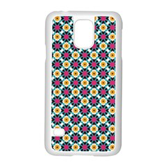 Cute Abstract Pattern Background Samsung Galaxy S5 Case (white) by creativemom