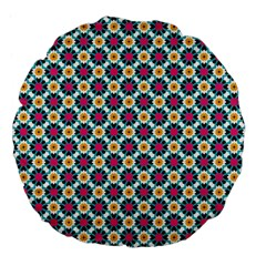 Cute Abstract Pattern Background Large 18  Premium Flano Round Cushions by creativemom