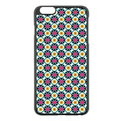 Cute Abstract Pattern Background Apple Iphone 6 Plus Black Enamel Case by creativemom