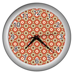 Cute Pretty Elegant Pattern Wall Clocks (silver)