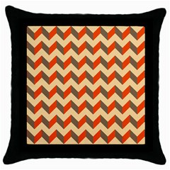 Modern Retro Chevron Patchwork Pattern  Throw Pillow Cases (black) by creativemom