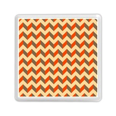 Modern Retro Chevron Patchwork Pattern  Memory Card Reader (square)  by creativemom