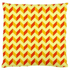 Modern Retro Chevron Patchwork Pattern  Standard Flano Cushion Cases (one Side)  by creativemom