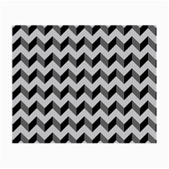 Modern Retro Chevron Patchwork Pattern  Small Glasses Cloth (2 Side)