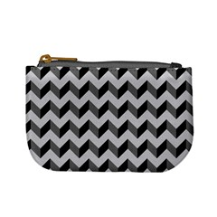 Modern Retro Chevron Patchwork Pattern  Mini Coin Purses by creativemom