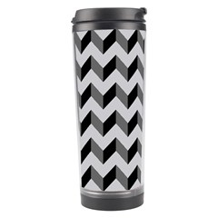 Modern Retro Chevron Patchwork Pattern  Travel Tumblers by creativemom