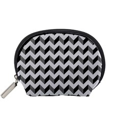 Modern Retro Chevron Patchwork Pattern  Accessory Pouches (small)  by creativemom