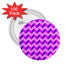 Modern Retro Chevron Patchwork Pattern 2 25  Buttons (100 Pack)