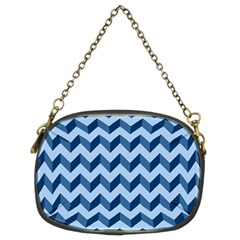 Modern Retro Chevron Patchwork Pattern Chain Purses (two Sides)  by creativemom