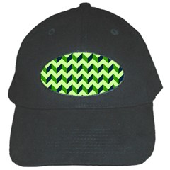 Modern Retro Chevron Patchwork Pattern Black Cap