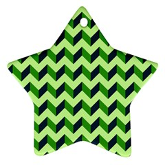 Modern Retro Chevron Patchwork Pattern Star Ornament (two Sides)