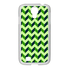 Modern Retro Chevron Patchwork Pattern Samsung Galaxy S4 I9500/ I9505 Case (white) by creativemom